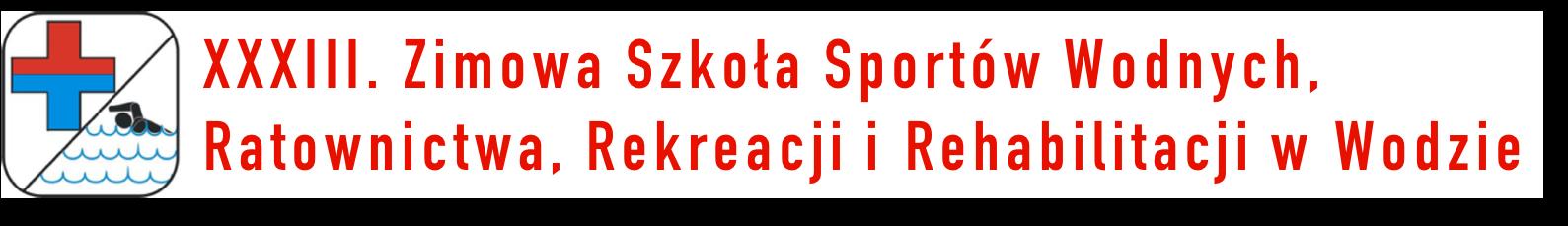 Zimowa Szkoła Sportów Wodnych, Ratownictwa, Rekreacji i Rehabilitacji w Wodzie